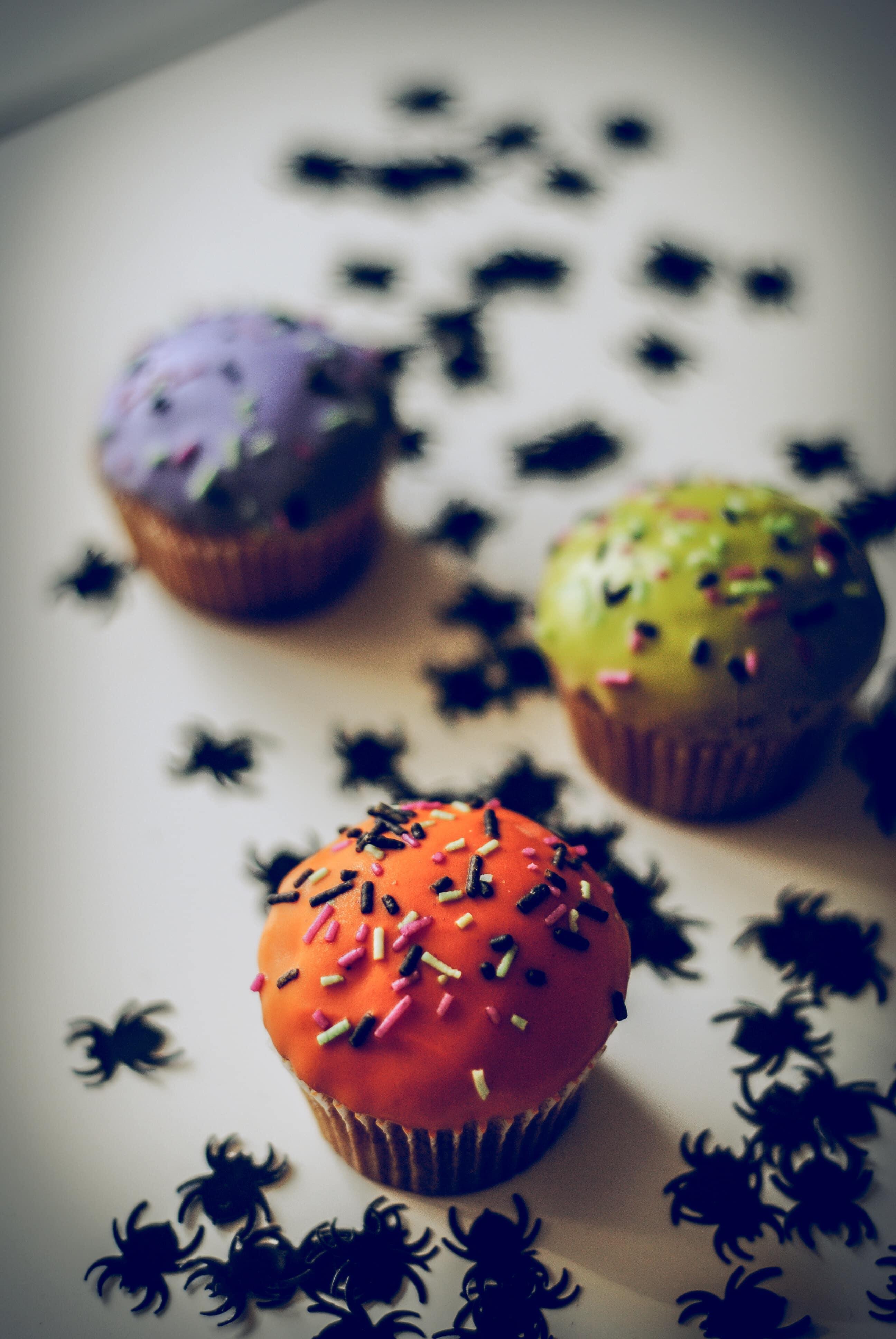 Cupcakes: una bonita alternativa para decorar el dia de halloween.¡A tus hijos les encantará!