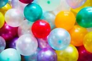 fotografia globos de colores