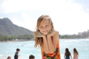 fotografia de niña